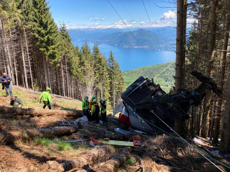 A cable car crashed in Stresa, Italy