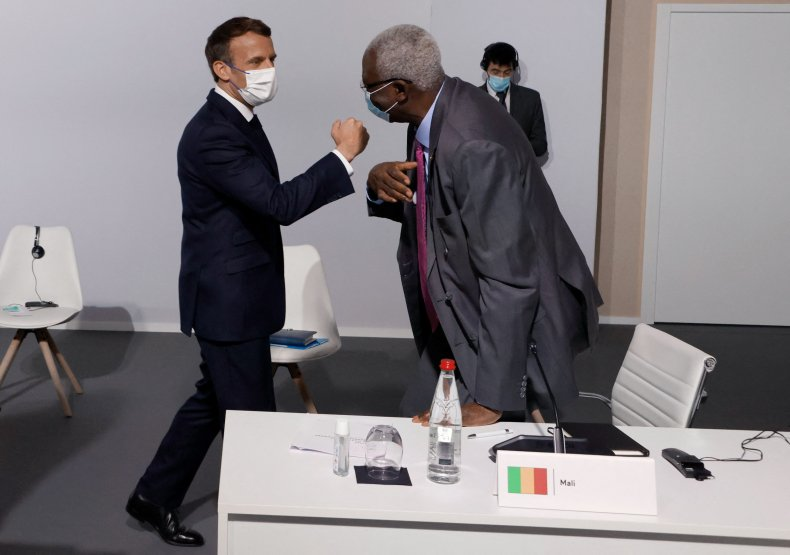 President Macron with Interim President N'Daw