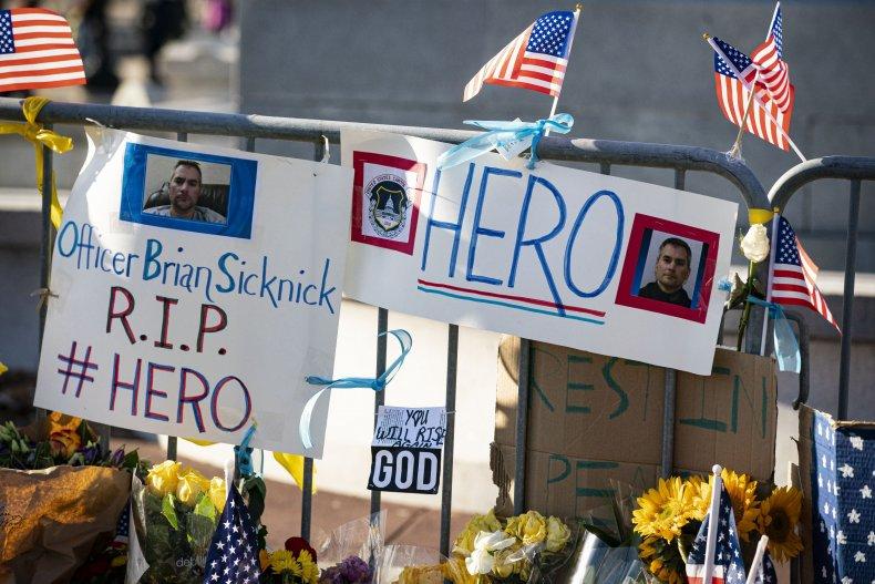 Memorial for Officer Brian Sicknick