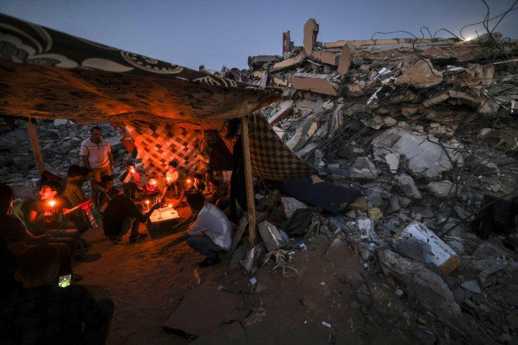 Tent in northern Gaza Strip