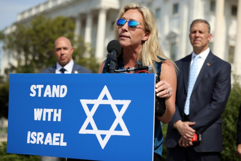 Marjorie Taylor Greene McCarthy Scalise Stefanik Antisemitism