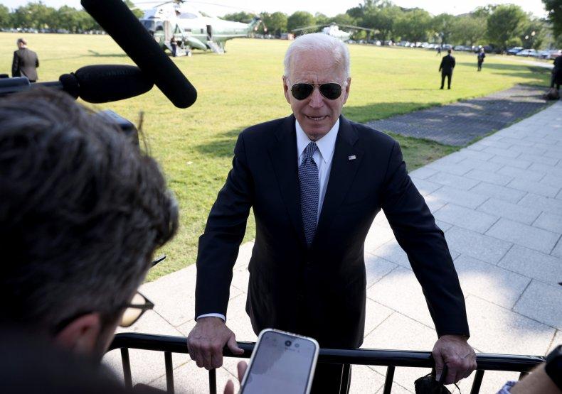 President Joe Biden Addresses White House Press