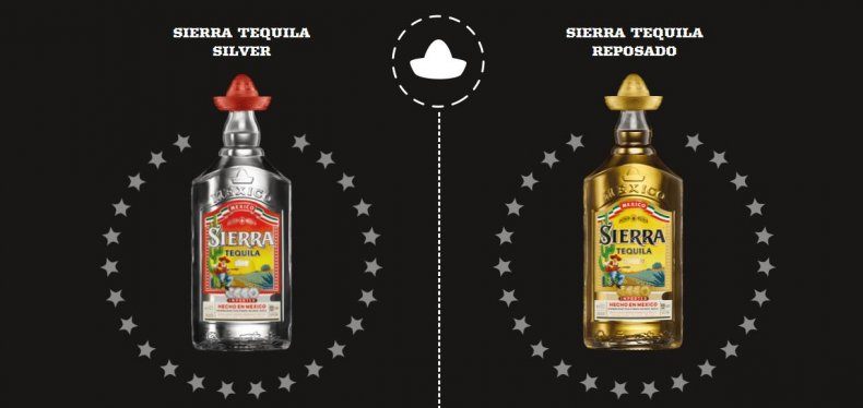 Product images of Sierra Tequila bottles