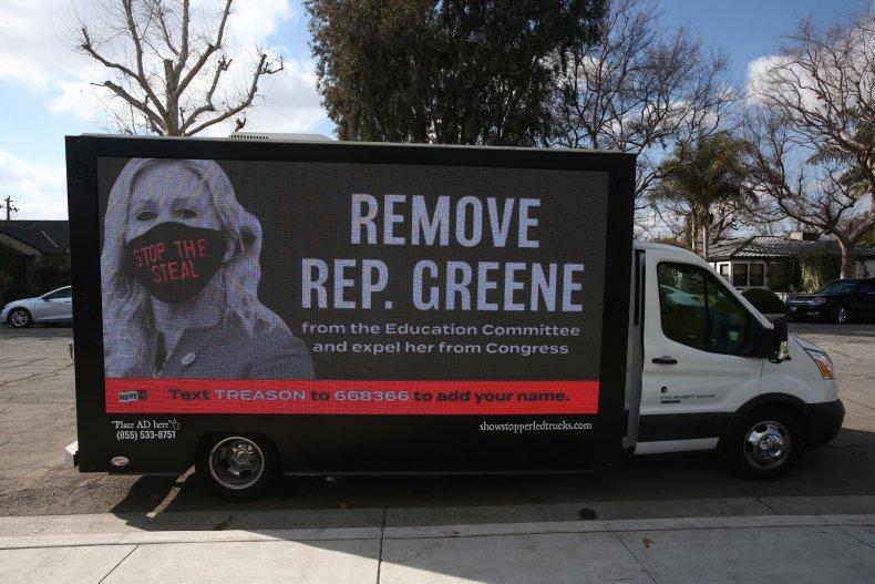 A Billboard Calls for Taylor Greene's Expulsion