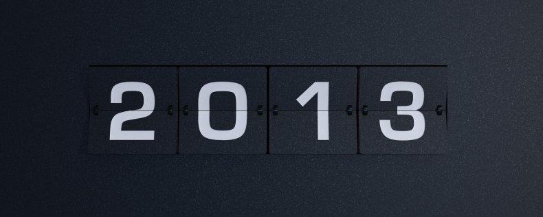 2013 year flip board