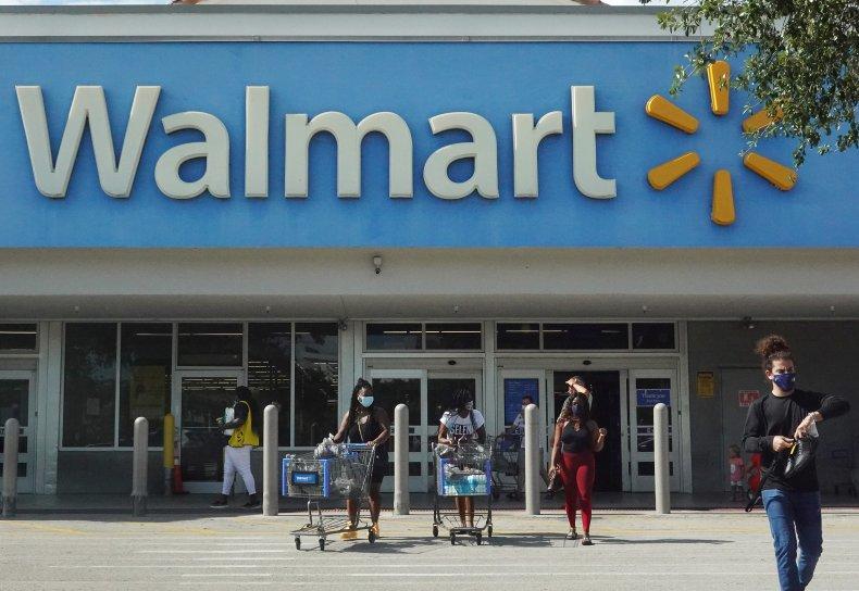 Customers at a Walmart in Florida.