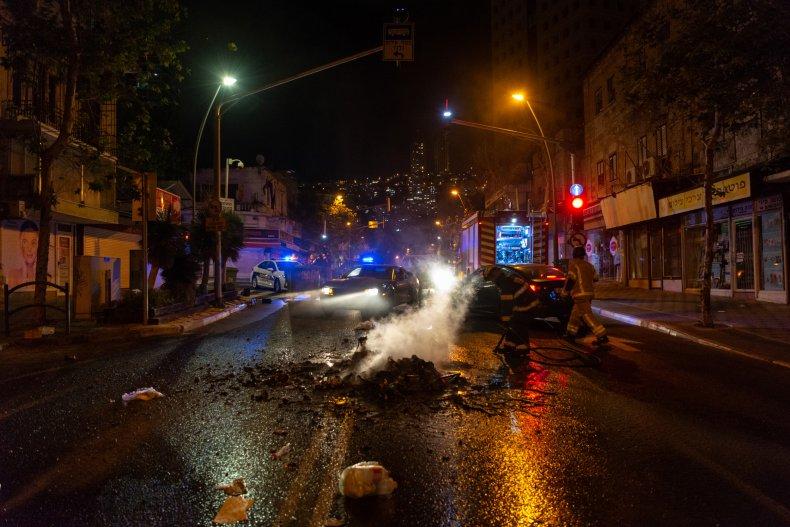 Street Destruction in Haifa Israel