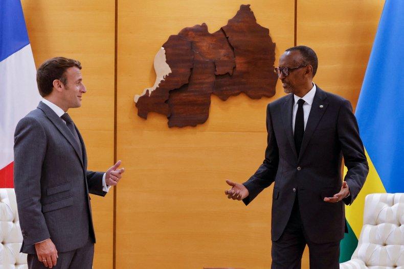 Macron and Kagame meet