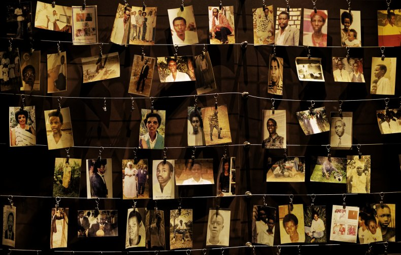 Genocide victims' photographs