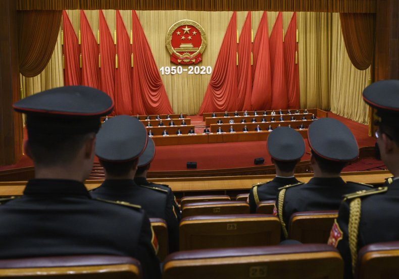 Chinese President Xi Jinping Addresses Great Hall