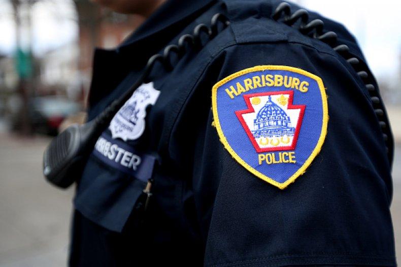 Police Armed Woman Body Camera Hugging
