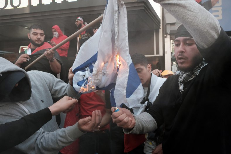 Rally In Support Of Israel Held In