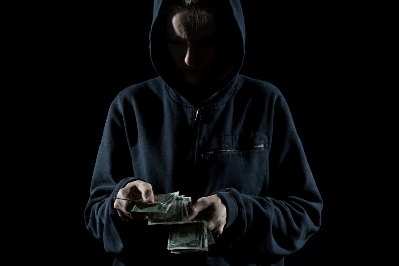 Thief counting cash