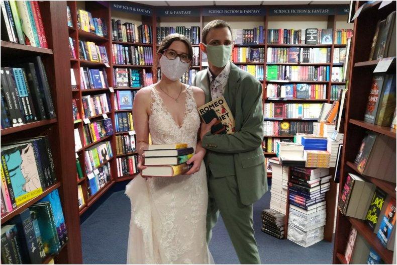 Newlyweds at Blackwell's