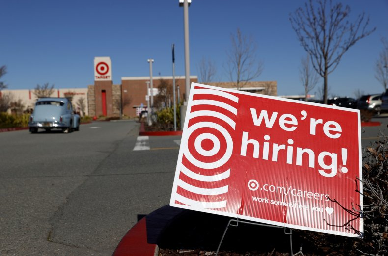 Hiring Sign in Front of Target