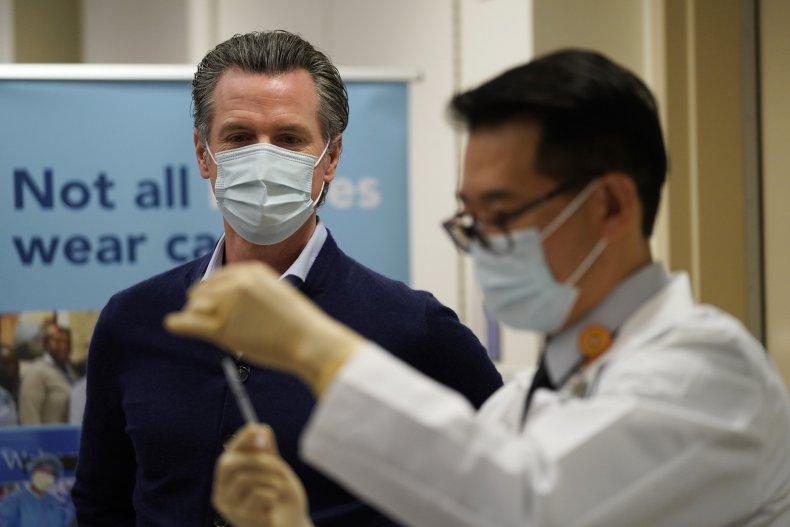 California Governor Gavin Newsom COVID-19 vaccine vaccinations