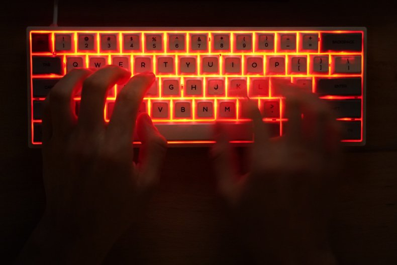Stock computer hacker photo