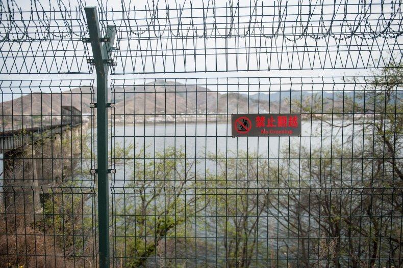 North Korea/China border