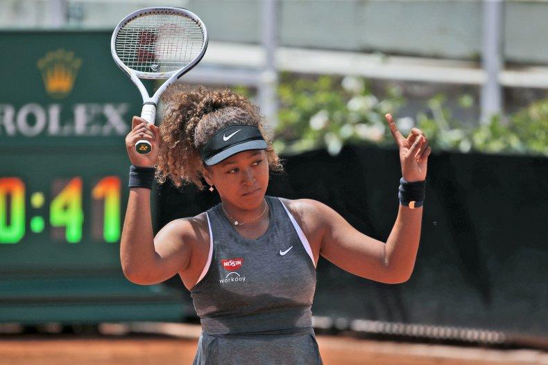Naomi Osaka at the Italian Open