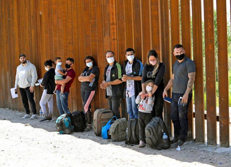 Migrant families at U.S. border