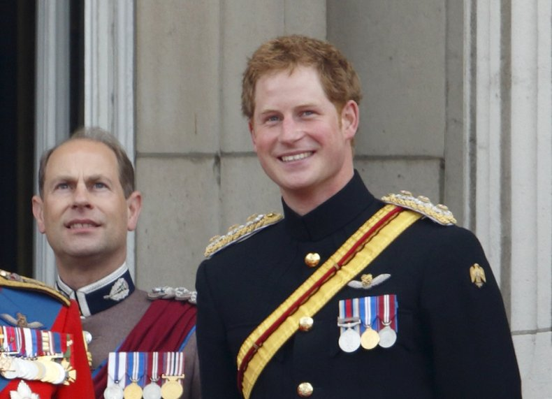 Prince Harry, Prince Edward in Military Uniform