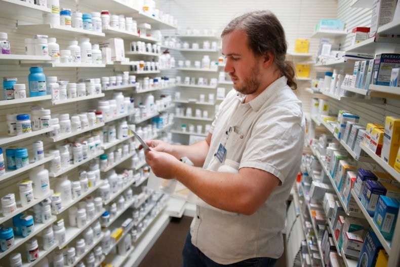 prescription drugs being filled