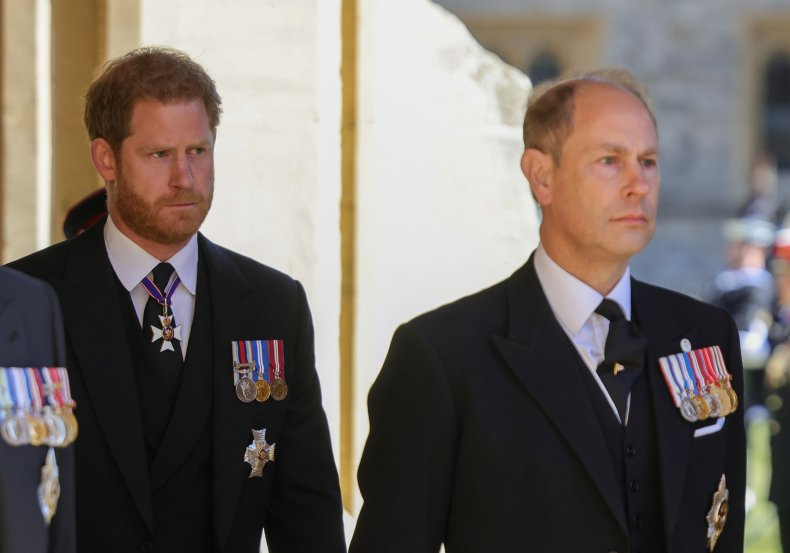 Prince Harry, Edward at Prince Philip's Funeral