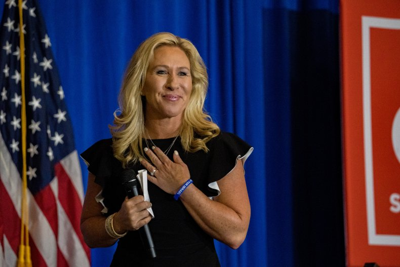 Greene Speaks at an America First Rally