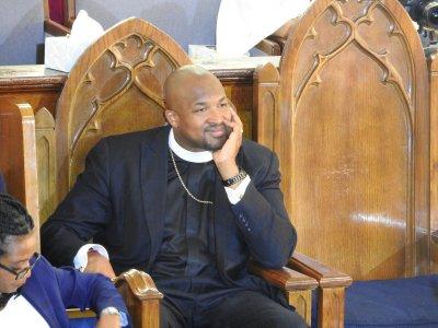 Reverend Robert Turner at Vernon AME Church