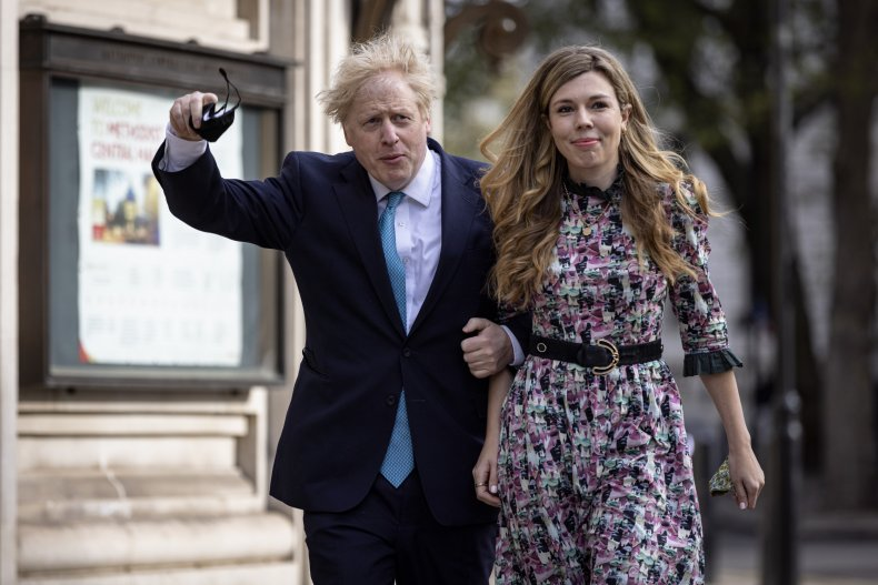 Boris Johnson Pictured with Carrie Symonds