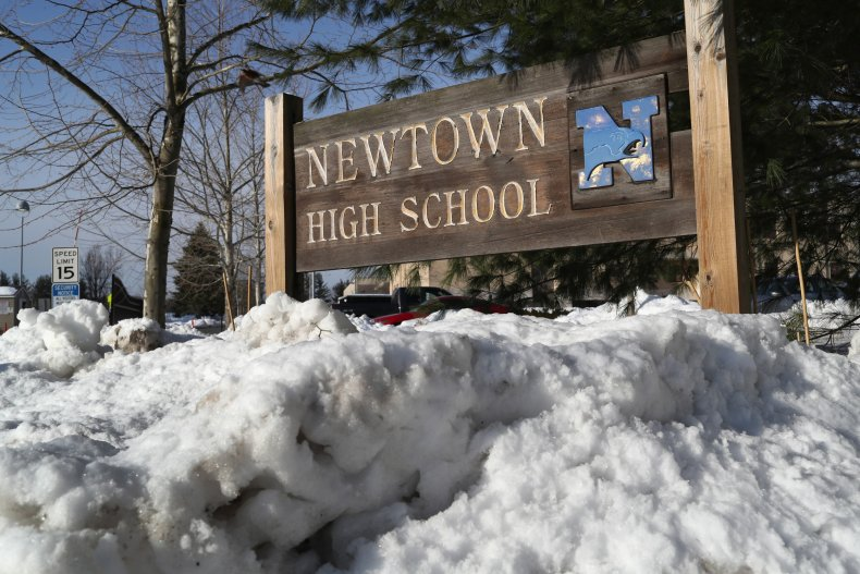 Newtown High School in Connecticut