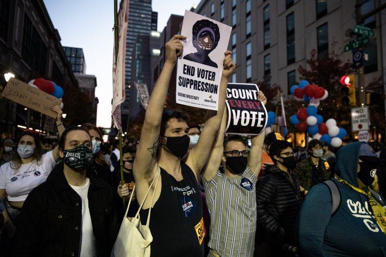 Protestors Active In Philadelphia As Pennsylvania Ballot