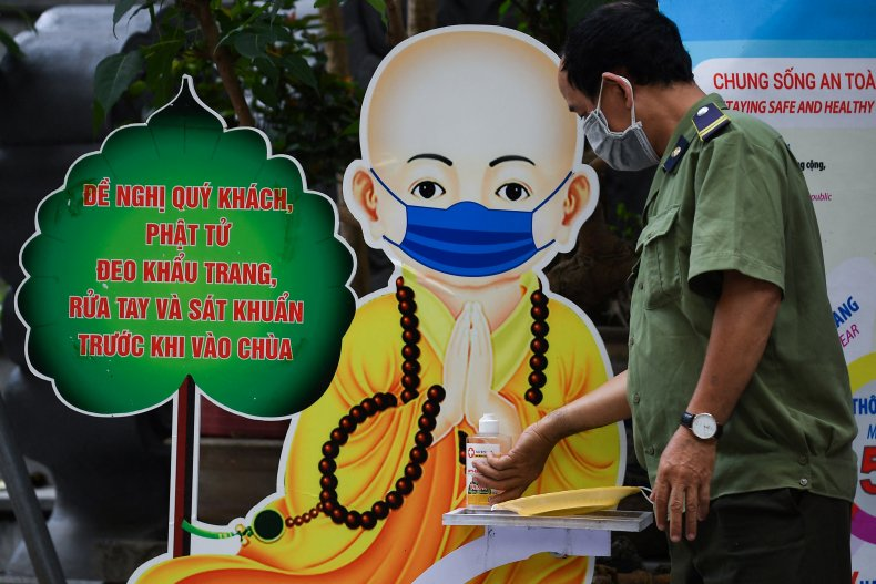 Man Wearing a Mask in Vietnam