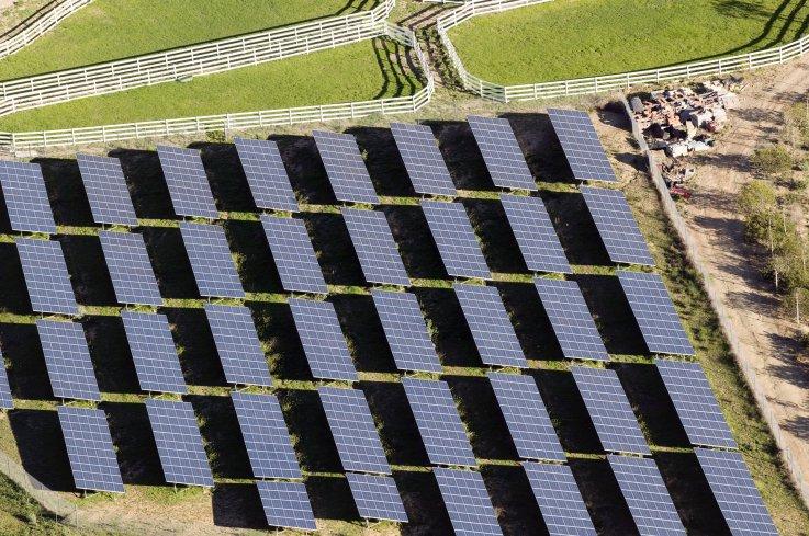 Solar farm in California