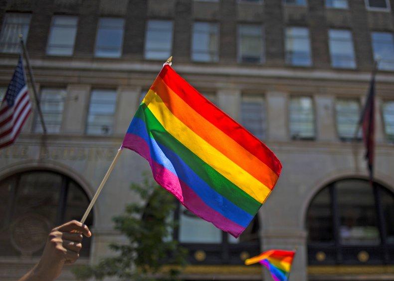 Pride Flag at Parade