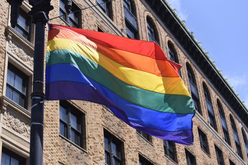 A Pride flag in San Francisco.