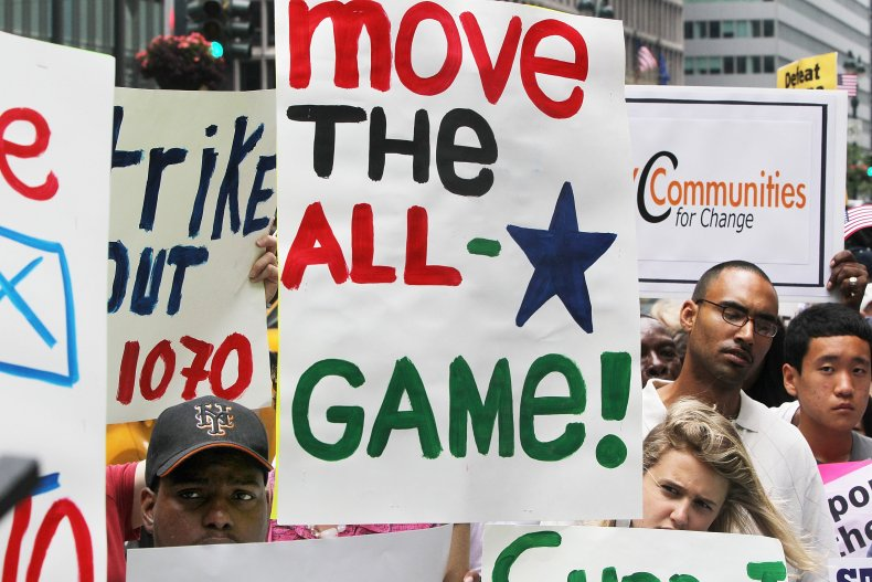 An MLB All-Star Game Protest in 2010