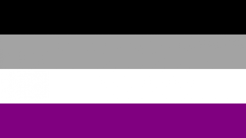 The asexual pride flag.