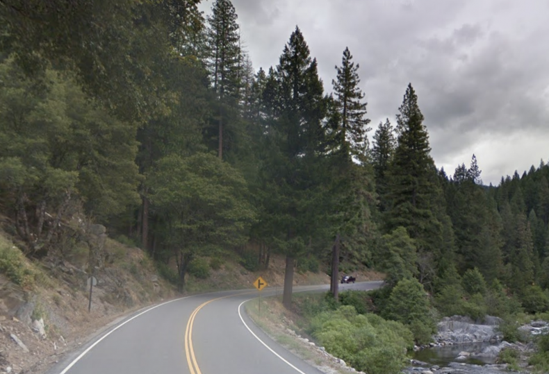 Jim Crow Road Pictured Near Downieville, California