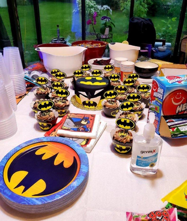 Sim Mularkey and her Batman birthday
