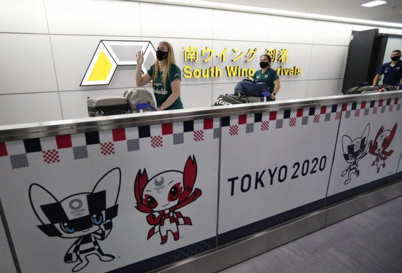 Australia softball team in Tokyo
