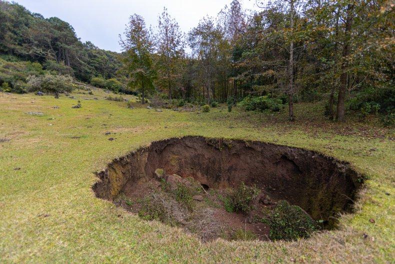 A sinkhole in el Cielo, Tamaulipas, Mexico