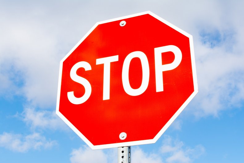 Stock image of a stop sign.