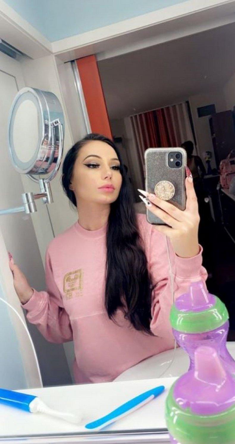 Amanda DiMeo in her $75 Disney shirt