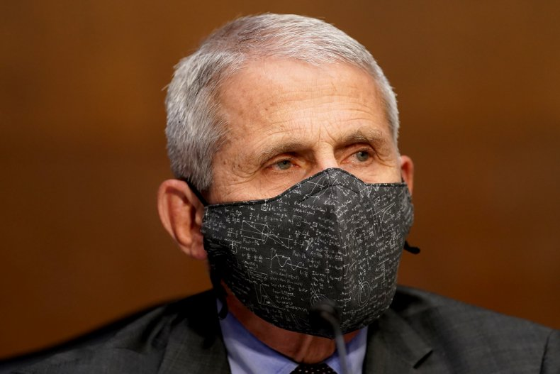 Anthony Fauci Appears at a Senate Hearing