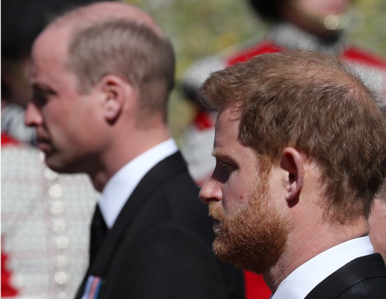 Prince Harry, Prince William at Philip's Funeral