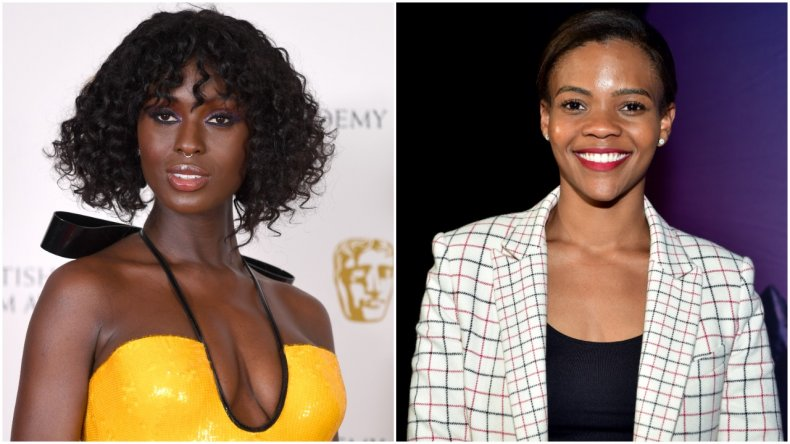 Jodie Turner-Smith and Candace Owens