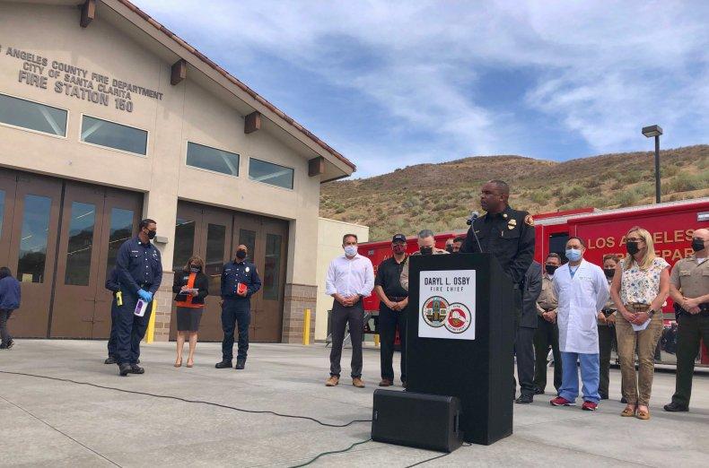 LA County Fire Chief News Conference
