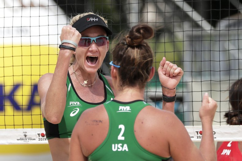 Kerri Walsh Jennings and Brooke Sweat Volleyball