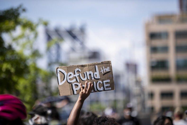 Protester in June 2020